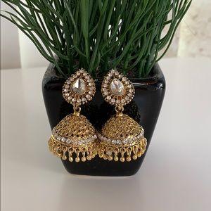 Kundan Diamond Gold Earrings